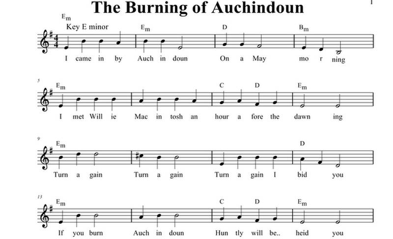 The Burning of Auchindoun - Song